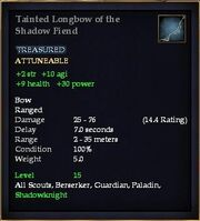 Tainted Longbow of the Shadow Fiend