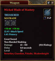 Wicked Blade of Mastery