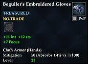 Beguiler's Embroidered Gloves