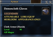 Demoncloth Gloves