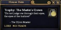 Trophy: The Master's Crown