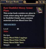 Rare Deathfist Mossy Armor Plans
