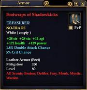 Footwraps of Shadowkicks