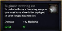 Fulginate throwing axe