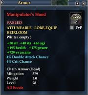 Manipulator's Hood