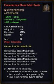 Harmonious Blood Mail Boots