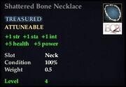 Shattered Bone Necklace