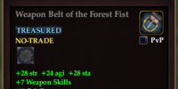Weapon Belt of the Forest Fist