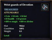 Wrist guards of Devotion