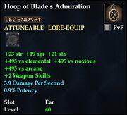 Hoop of Blade's Admiration