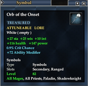 Orb of the Onset