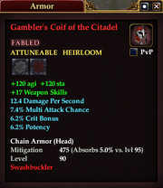 Gambler's Coif of the Citadel