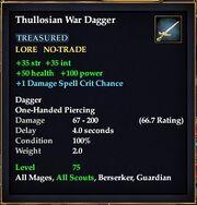 Thullosian War Dagger