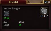 Azurite bangle