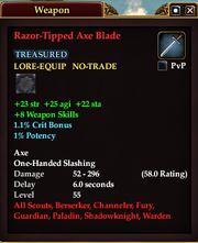 Razor-Tipped Axe Blade