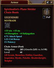 Spiritualist's Plane Strider Chain Boots