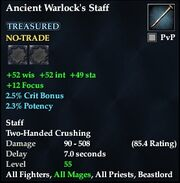 Ancient Warlock's Staff