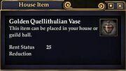 Golden Quellithulian Vase