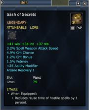 Sash of Secrets