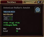 Antonican Stalker's Amulet