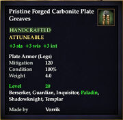 Carbonite Plate Greaves