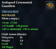 Antiqued Ceremonial Gauntlets