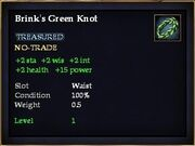 Brink's Green Knot