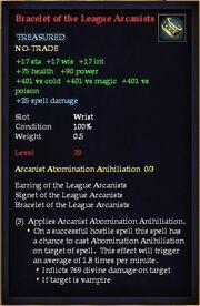 Bracelet of the League Arcanists