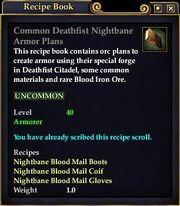 Common Deathfist Nightbane Armor Plans