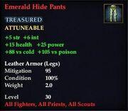 Emerald Hide Pants