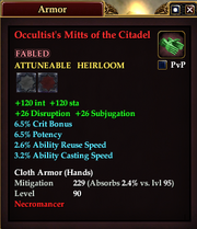 Occultist's Mitts of the Citadel