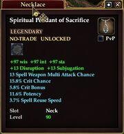 Spiritual Pendant of Sacrifice