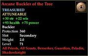 Arcane Buckler of the Tree