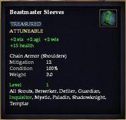Beastmaster Sleeves
