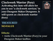 Clockwork Warrior (Fury)