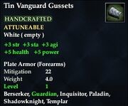Tin Vanguard Gussets
