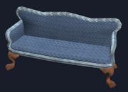 Ornate mahogany couch (Visible)