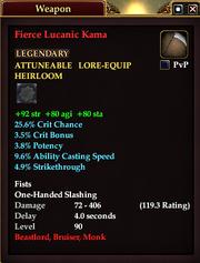 Fierce Lucanic Kama