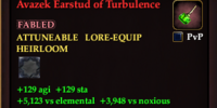 Avazek Earstud of Turbulence