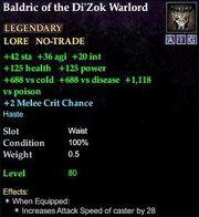 Baldric of the Di'Zok Warlord