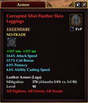 Corrupted Mist Panther Skin Leggings