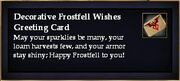 Decorative Frostfell Wishes Greeting Card
