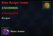 Rune Recipe- Armor