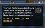 Teir'Dal Performing Arts Mask