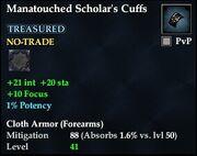 Manatouched Scholar's Cuffs