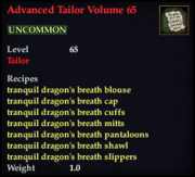 Advanced Tailor Volume 65