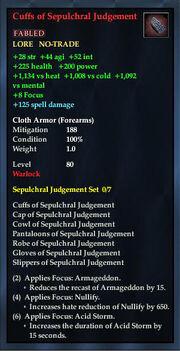 Cuffs of Sepulchral Judgement