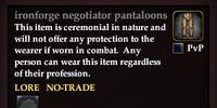 Ironforge negotiator pantaloons
