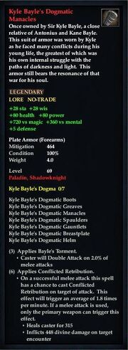 Kyle Bayle's Dogmatic Manacles