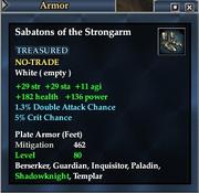 Sabatons of the Strongarm